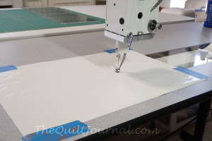 Taping Supreme Slider for Free Motion Quilting