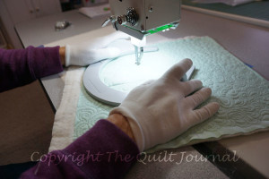 sample stitch out for tension/ stitch quality