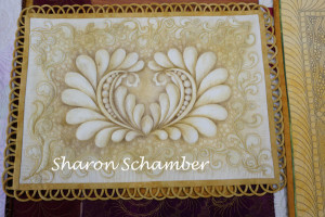 a picture of Sharon Schamber technique sample