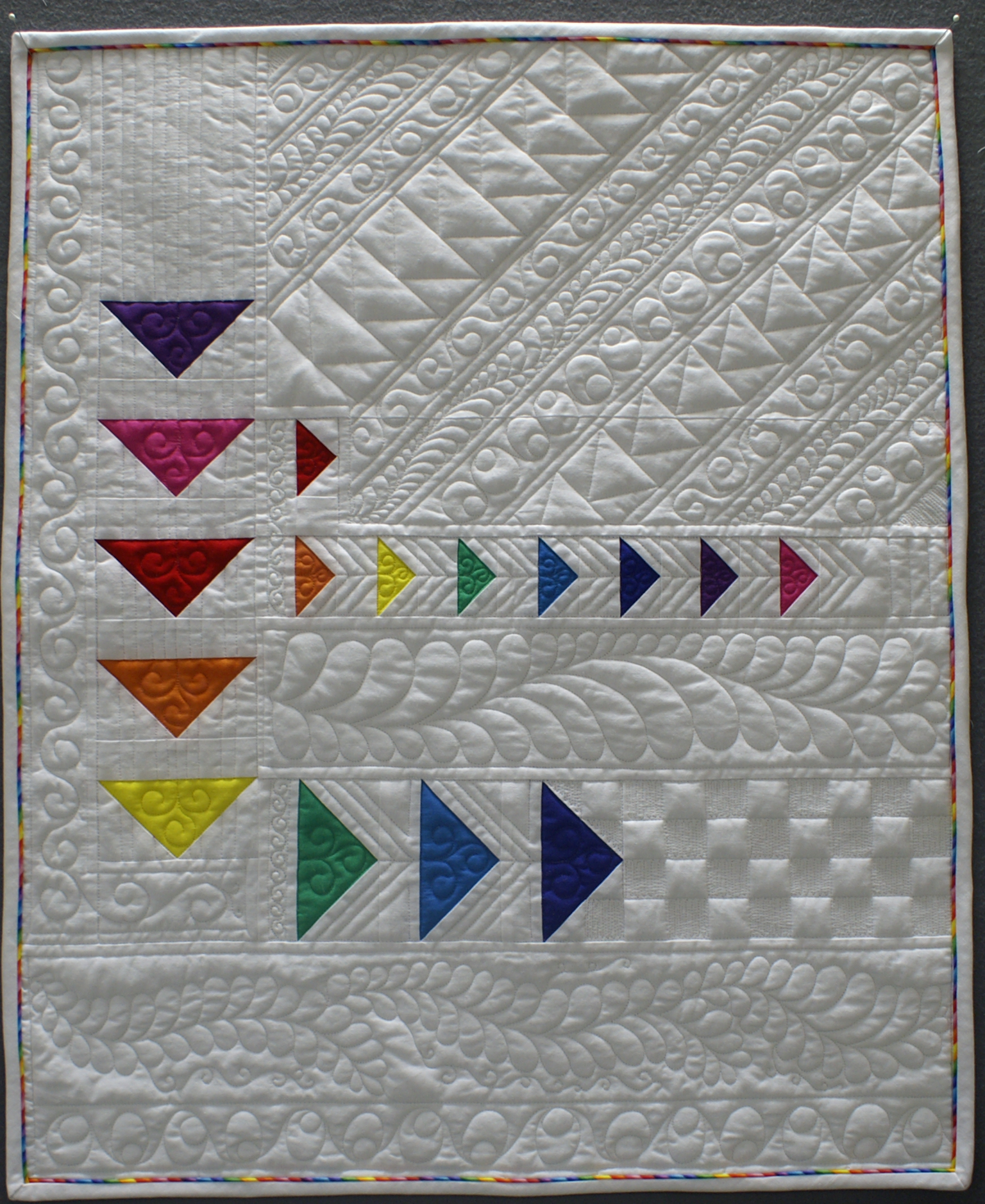 Free motion quilting feathers Archives - The Quilt Journal