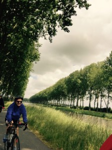 A picture of me biking into Belgium