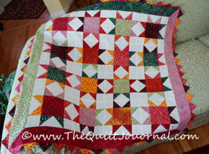 a picture of a quilt top from Alex Anderson's Scrap Quilting book