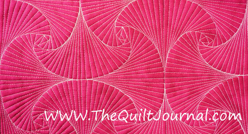 a picture of a free motion quilting Zentangle © paradox design (motif)