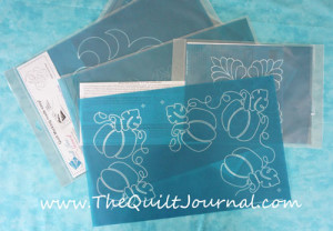 A Picture of a pile of Full Line Quilting Stencils