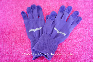 A picture of my grabaroo's quilting gloves