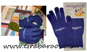 a picture of purple Grabaroo's quilting gloves