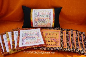 A Picture of my finished Claudia's Creations Pillow Talk Thanksgiving and Halloween