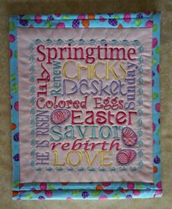 Easter pillow talk pillow cover