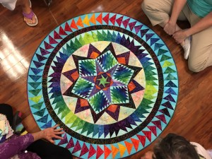 An Example of the star quilt that we were taught to draft (quilt by Gail Garber )