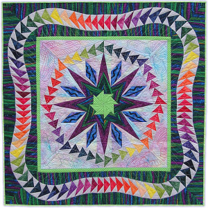 Tutti-Frutti-Square quilt by Gail Garber