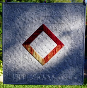 a picture ofMy traditional free motion quilting style quilt