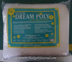 a picture of quilters dream poly batting