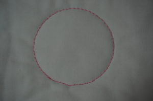 a picture ofmy hiccup to the bottom of my circle where my foot hit the channel