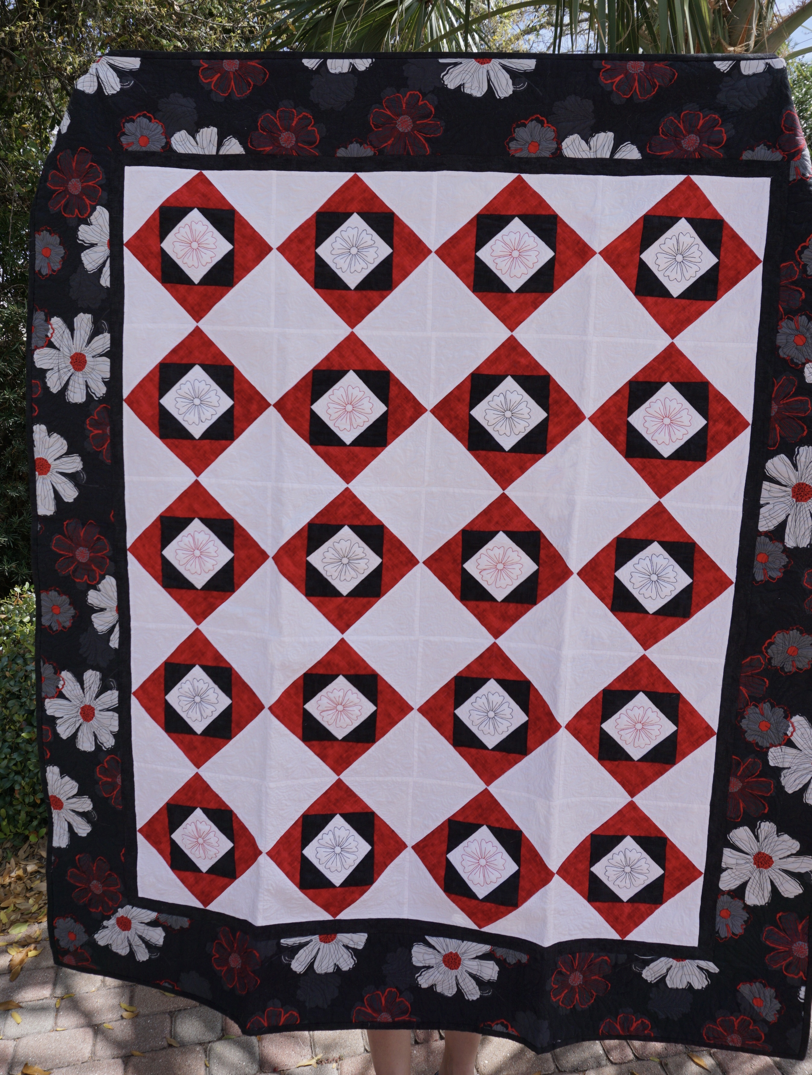 binding tuesday before hour did an quilting as get flying front quilt my list all finish and onto goes far the diamond to only stitch do alpine managed i sewn geese image